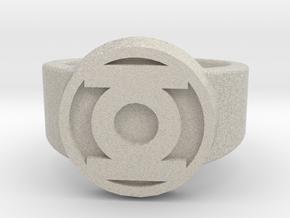 Green Lantern Ring in Natural Sandstone