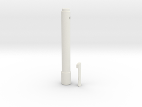 Rebles Code Cylinder in White Natural Versatile Plastic