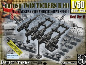 1/50 Vickers K GO Set001 in Smooth Fine Detail Plastic