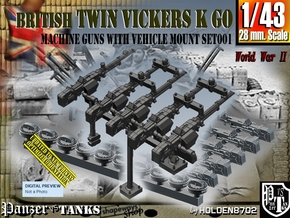 1/43 Vickers K GO Set001 in Smooth Fine Detail Plastic