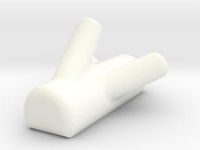 Treehook2 in White Processed Versatile Plastic