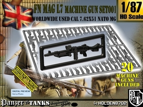 1/87 FN MAG L7 Set001 in Smoothest Fine Detail Plastic