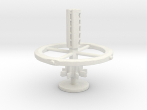 star ship star-base  board game piece in White Natural Versatile Plastic