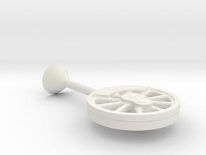 "40"" driver center with sprue in White Natural Versatile Plastic"