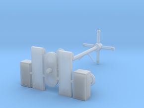 Antennemast Verlenging 3D in Smooth Fine Detail Plastic