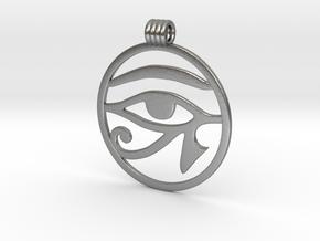 Eye Of Horus Pendant in Natural Silver