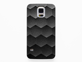 Samsung Galaxy S5 Case_Hexagon in Black Natural Versatile Plastic