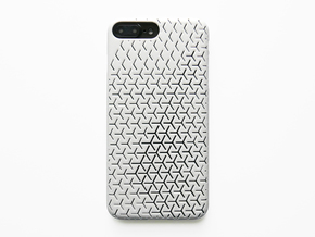 iPhone 7 & 8 Plus Case_Geometric in White Processed Versatile Plastic