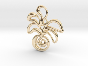 Tropical island in 14k Gold Plated Brass