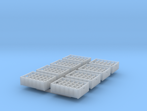 1:48 24  bottle crate V2 - 8ea in Smooth Fine Detail Plastic
