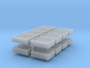 1:48 24  bottle crate V2 - 16ea in Smooth Fine Detail Plastic