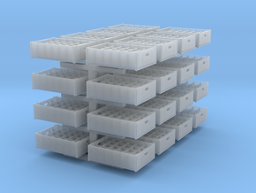 1:48 24 bottle crate V2 - 32ea in Smooth Fine Detail Plastic