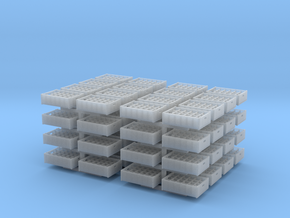 1:48 24  bottle crate V2 - 64ea in Smooth Fine Detail Plastic