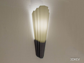 Art Deco lampshade Part 2/2 in Black Natural Versatile Plastic