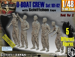 1/48 German U-Boot Crew Set101-02 in Smooth Fine Detail Plastic