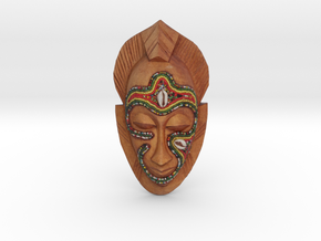 African Mask - Room Decoration in Full Color Sandstone: Small