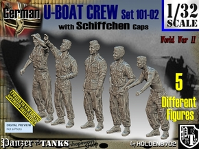 1/32 German U-Boot Crew Set101-02 in Smooth Fine Detail Plastic
