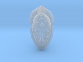 African Mask - Room Decoration in Smooth Fine Detail Plastic: Medium