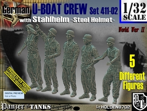 1/32 German U-Boot Crew Set411-02 in Smooth Fine Detail Plastic