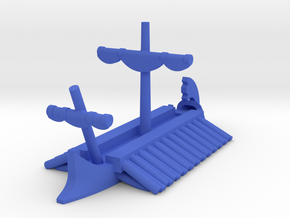 Athenian Trireme Stowed Sail Game Pieces in Blue Processed Versatile Plastic: Extra Small