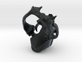 Horned Bobcat Ring in Black Hi-Def Acrylate: 9 / 59