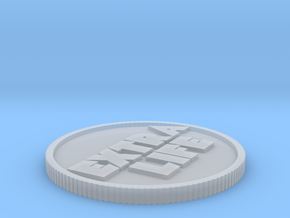 Ready Player One coin half in Smoothest Fine Detail Plastic