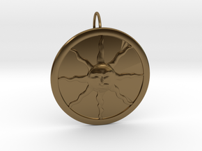 Sunlight Pendant for Large Chains in Interlocking Polished Bronze