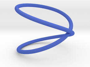 Unknot with a half twist in Blue Processed Versatile Plastic