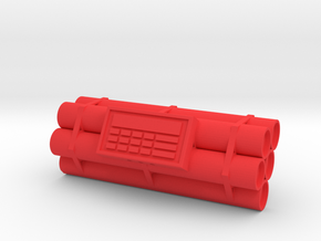 TNT dynamite bomb - 5 sticks - 1:1 scale in Red Processed Versatile Plastic
