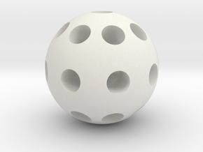 Sphere 8 mm in White Natural Versatile Plastic
