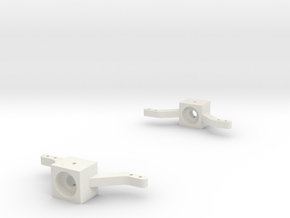 Front-axle-knuckles-set in White Natural Versatile Plastic