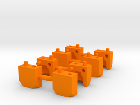 2 Part Ball Socket Sprue Small Scale in Orange Processed Versatile Plastic