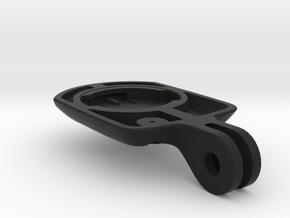 Wahoo Elemnt Bolt Blendr Mount - Short in Black Natural Versatile Plastic