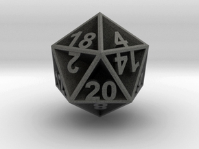 D20 - Plunged Sides in Polished Grey Steel