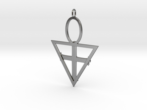 Rose Cross in Polished Silver: Large