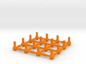 Spare Ball Pins Sprue Small Scale in Orange Processed Versatile Plastic