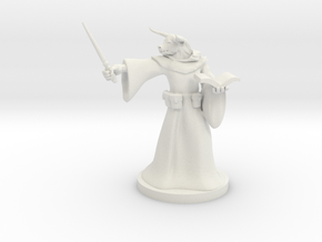 Minotaur Wizard with Wand in White Natural Versatile Plastic