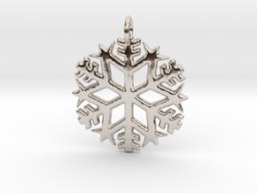 Snowflake Pendant 3 in Platinum