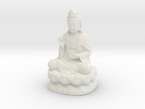 Avalokitesvara Bodhisattva 01 in White Natural Versatile Plastic