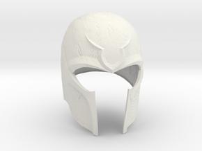 X-Men: Days Of Future Past - Magneto helmet in White Natural Versatile Plastic