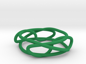 Two Linked Trefoils in Green Processed Versatile Plastic
