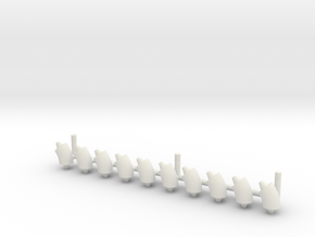 ø3.2mm Pipe Fittings 45° corner 10pc in White Natural Versatile Plastic