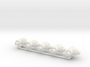 ø4mm Pipe Fittings T 5pc in White Natural Versatile Plastic