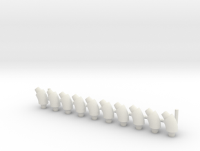 ø4mm Pipe Fittings 45° 10pc in White Natural Versatile Plastic