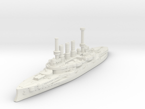 Deutschland Class Pre-Dreadnought in White Natural Versatile Plastic
