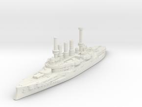 Deutschland Class Pre-Dreadnought in White Premium Versatile Plastic