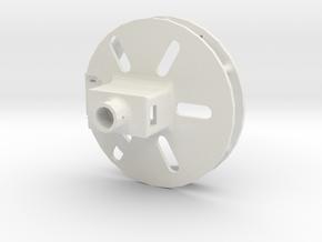 permanent_magnet_gripper_servo_attachment in White Natural Versatile Plastic