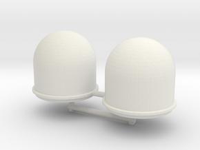 SATCOM dome 1to72 in White Natural Versatile Plastic