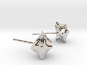 blossom earrings in Platinum