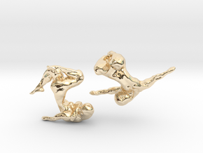 Sculptural Nudes Cufflinks in 14K Yellow Gold